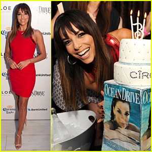 Eva Longoria Celebrates 39th Birthday at 'Ocean Drive' Cover Party!