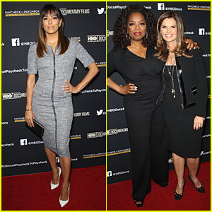 Eva Longoria & Oprah Winfrey Support Maria Shriver at 'Paycheck to Paycheck' Screening!