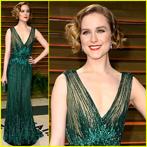 Evan Rachel Wood Channels Old Hollywood at Vanity Fair Oscars Party 2014!