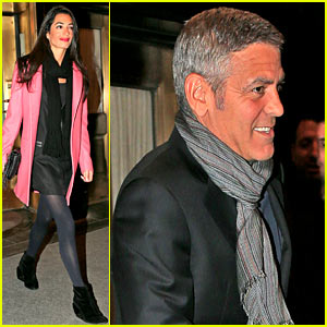 George Clooney & Rumored Girlfriend Amal Alamuddin Dine Out After Seychelles Vacation!
