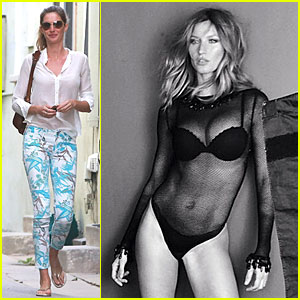 Gisele Bundchen Flaunts Bangin' Body For Sexy Lingerie Shoot!