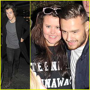 Harry Styles & Liam Payne Meet Up For Dinner in London!