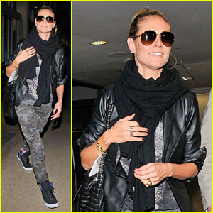 Heidi Klum Can't Hide Her Gorgeous Looks in Camouflage