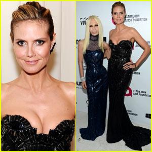 Heidi Klum & Donatella Versace Meet Up for Elton John Oscars 2014 Party