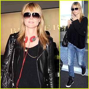 Heidi Klum's Beauty Stands Out with Red Headphones in London!