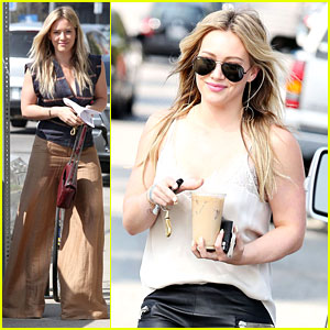 Hilary Duff Steps Out After Aaron Carter Professes His Love