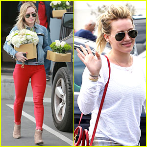 Hilary Duff is a Red Hot Flower Girl!