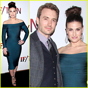 Idina Menzel Leaves Adele Dazeem Behind at 'If/Then' Opening Party!