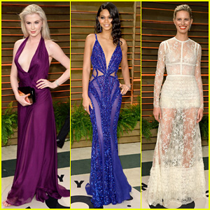 Ireland Baldwin & Chanel Iman - Vanity Fair Oscar Party 2014