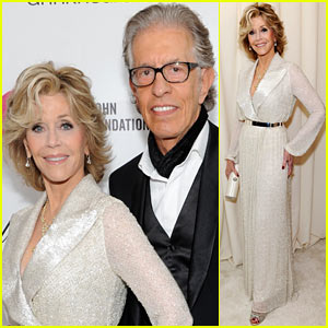 Jane Fonda Attends Elton John Oscars Party 2014 After Writing Blog About Mortality