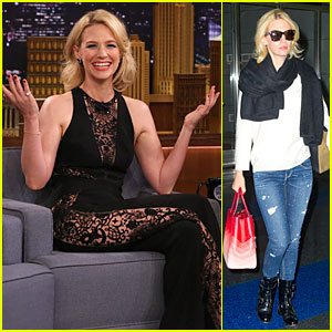 January Jones Shares a Sexy Sheer Side of Herself on 'Tonight Show'!