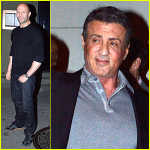 Jason Statham & Sylvester Stallone Enjoy Action Filled Dinner at Craig's!