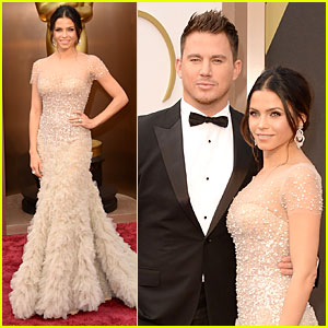 Jenna Dewan: Nude Fairy on Oscars 2014 Red Carpet with Channing Tatum!