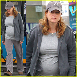 Jenna Fischer Shows Off Her Baby Bump in L.A!