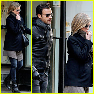 Jennifer Aniston & Justin Theroux Spotted For First Time Together in Months in NYC!