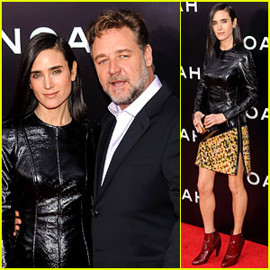 Jennifer Connelly & Russell Crowe Rule the Red Carpet at 'Noah' NYC Premiere!
