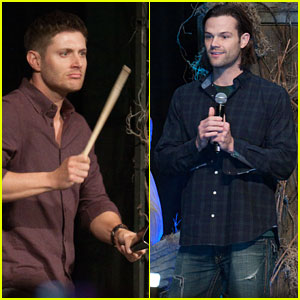 Jensen Ackles Plays Cowbell at 'Supernatural' Convention with Jared Padalecki!