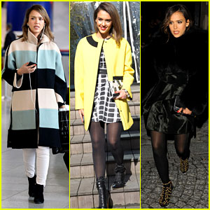 Jessica Alba Wraps Up Paris Fashion Week & Flies to New York