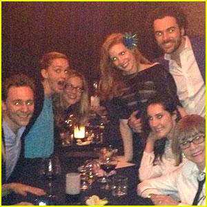Jessica Chastain Celebrates Birthday with Pal Tom Hiddleston!