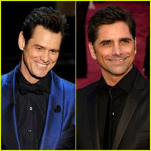 Jim Carrey & John Stamos - Oscars 2014