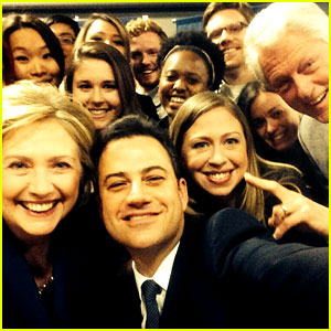 Jimmy Kimmel Takes Epic Selfie with the Clinton Family!