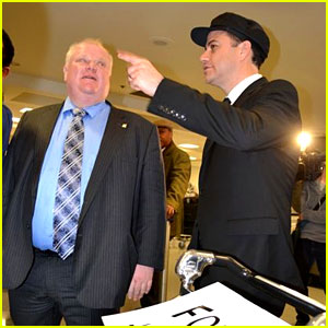 Jimmy Kimmel Picks Up Toronto Mayor Rob Ford at LAX Airport!