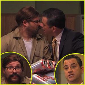 Seth Rogen & Jimmy Kimmel Kiss in 'True Detective' Season 2 Spoof - Watch Now!