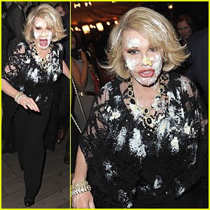 Joan Rivers Gets Attacked with Cake at QVC Red Carpet Event!