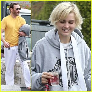Joaquin Phoenix & Allie Teilz Take Karate Class on Oscar Sunday!