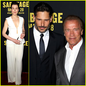 Joe Manganiello & Arnold Schwarzenegger Add Muscle Power to 'Sabotage' Premiere!