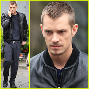 Joel Kinnaman Looks Leather Jacket Cool on 'The Killing' Set