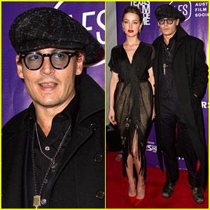 Johnny Depp Supports Amber Heard at the Texas Film Awards