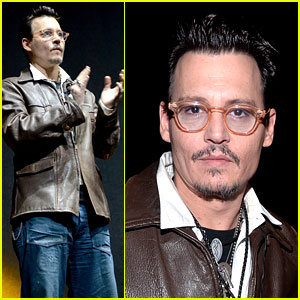 Johnny Depp Makes Special CinemaCon Appearance to Promote 'Transcendence'!