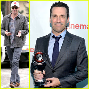 Jon Hamm Receives Excellence in Acting Award at CinemaCon!