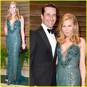 Jon Hamm & Jennifer Westfeldt - Vanity Fair Oscars Party 2014