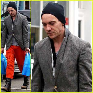 Jonathan Rhys-Meyers is Hard to Miss in Bright Red Pants