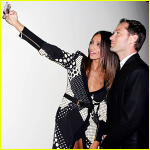 Jude Law & Madalina Ghenea Take a Selfie at 'Dom Hemingway' NYC Screening!