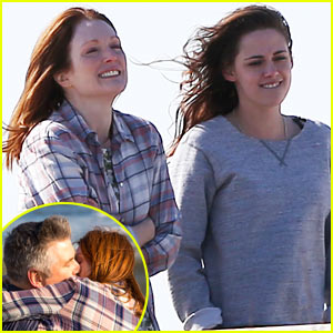Kristen Stewart & Julianne Moore Share Smiles for 'Still Alice' After a Steamy Kiss Scene with Alec Baldwin!