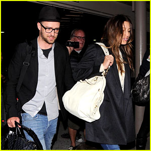 Justin Timberlake & Jessica Biel Arrive Home from Barbados!