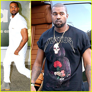 Kanye West Wears 'Yeezus' Shirt for Helicopter Tour in Rio