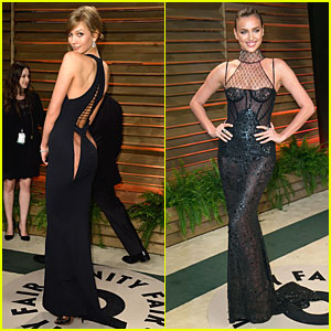 Karlie Kloss & Irina Shayk Give a Peek of Their Amazing Bodies in Sexy Dresses at Vanity Fair Oscars Party 2014