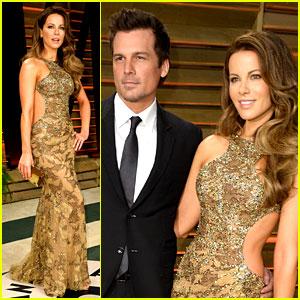 Kate Beckinsale & Len Wiseman - Vanity Fair Oscars Party 2014