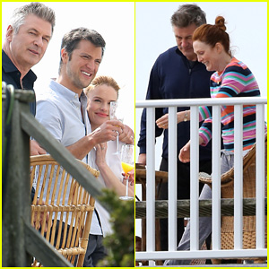 Kate Bosworth Hits Long Beach with Alec Baldwin & Shane McRae For 'Still Alice'