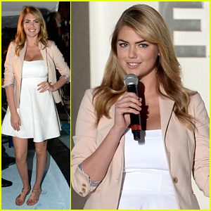 Kate Upton Hits Miami to Host the Express South Beach Runway Show!