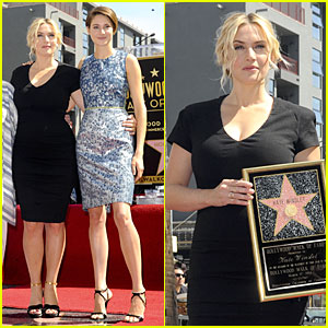 Kate Winslet Gets Support From Shailene Woodley at Hollywood Walk of Fame Ceremony!