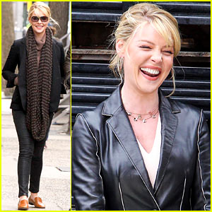 Katherine Heigl Cannot Stop Smiling on 'State of Affairs' Set!