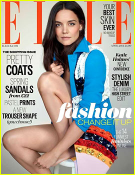 Katie Holmes Looks Flawless on 'Elle UK' April 2014 Cover!