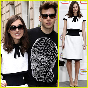 Keira Knightley Reveals Very Tiny Waist at Chanel Fashion Show