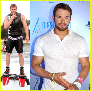 Kellan Lutz Glides Over Water on Flyboard in Thailand (Photos)