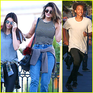Kendall & Kylie Jenner Meet Up with Super Excited Jaden Smith!